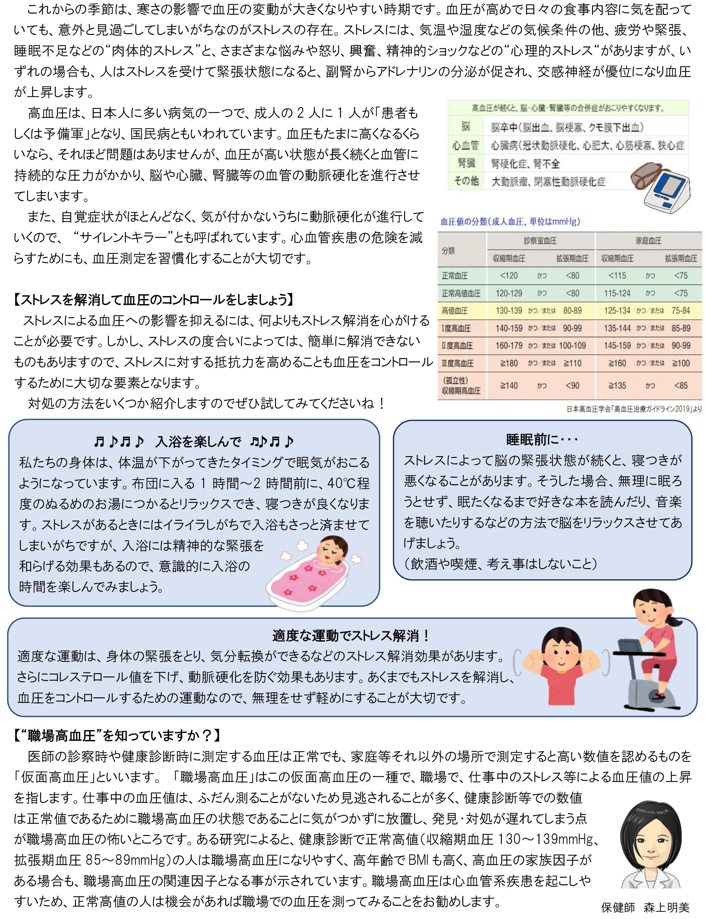 ストレスと高血圧